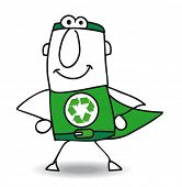 pic of superhero  - Superhero of recycling is coming back - JPG