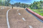 foto of street-walker  - pedestrian and bike lane in hdr tone - JPG