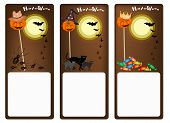Постер, плакат: Set of Three Banners of Halloween Night