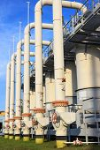stock photo of inlet  - Cleaning equipment inlet main gas pipeline compressor station - JPG