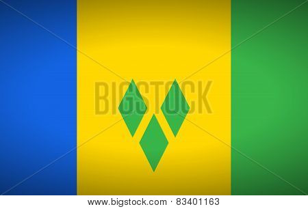 Flag Of Saint Vincent And The Grenadines.