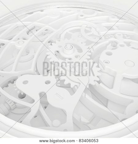 abstract background of the mechanism clock