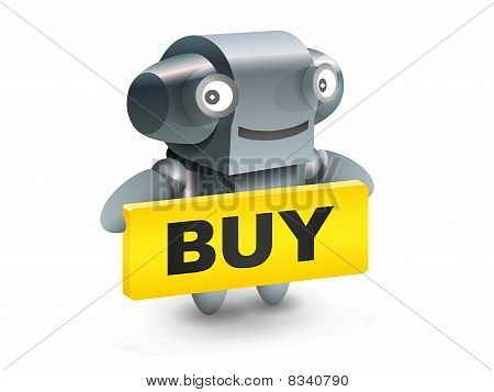 Robot button buy icon