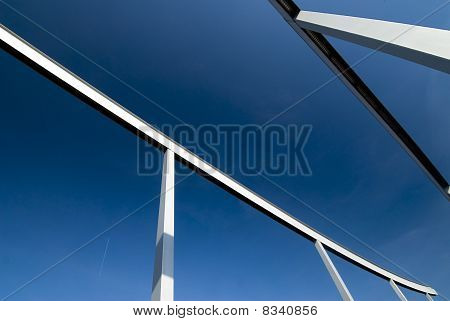 Steel monument