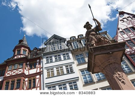 Traditional Houses In The Roemer, Frankfurt Am Main, Germany