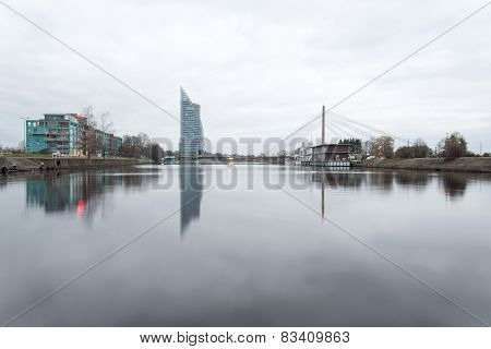 Panorama Of The City Of Riga, Latvia.
