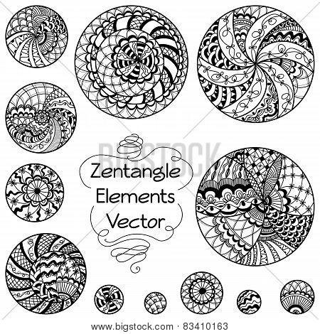 Zentangle Elements Circles