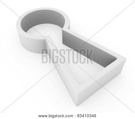 keyhole icon on a white background