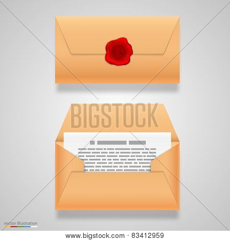 Open and closed letter