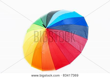 Umbrella Of Many Colors - Isolated