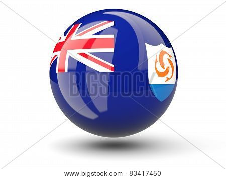 Round Icon Of Flag Of Anguilla