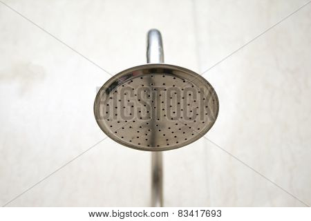 Silver Shower Head in the Bathroom