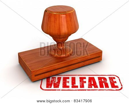 Rubber Stamp welfare  (clipping path included)