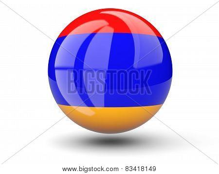 Round Icon Of Flag Of Armenia