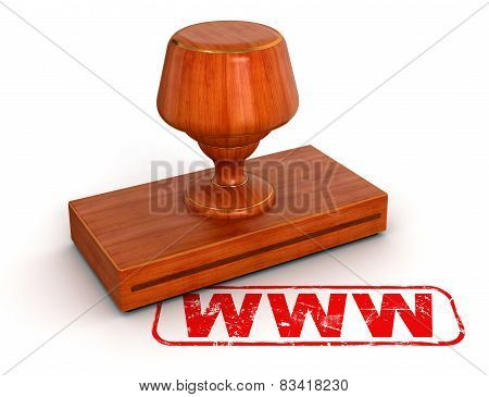 Rubber Stamp WWW (clipping path included)