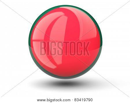 Round Icon Of Flag Of Bangladesh