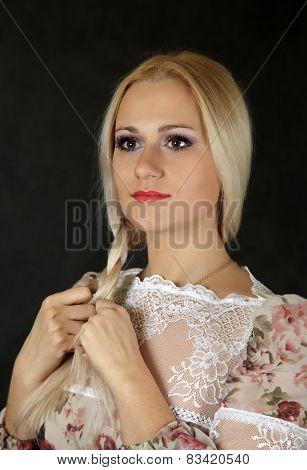 Beautiful Young Blond Woman
