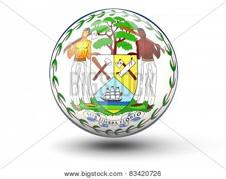 Round Icon Of Flag Of Belize