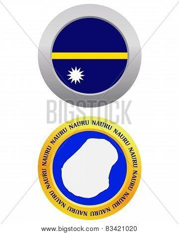 Button As A Symbol Nauru