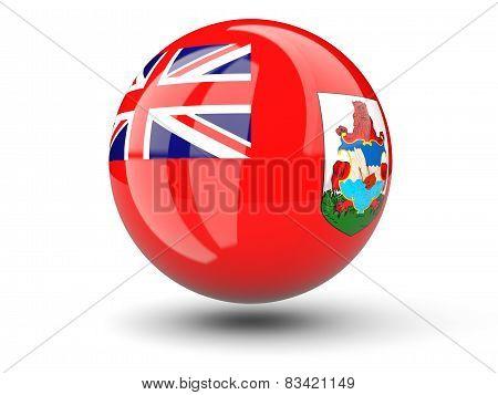 Round Icon Of Flag Of Bermuda