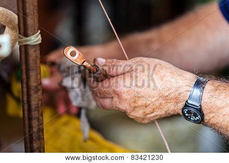 Repairing High Voltage Transformer