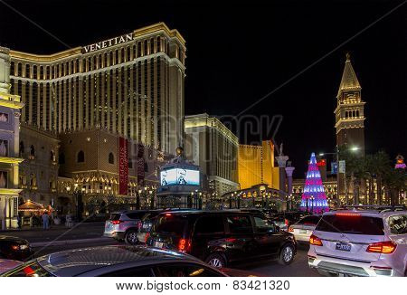 Las Vegas Strip At Christmas