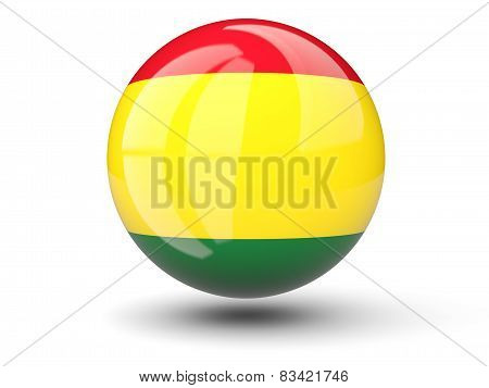 Round Icon Of Flag Of Bolivia