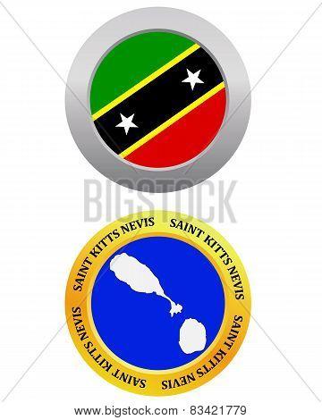 Button As A Symbol Saint Kitts Nevis