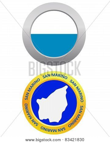 Button As A Symbol San Marino