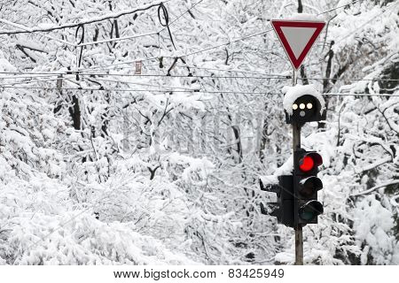 Frozen Traffic Light