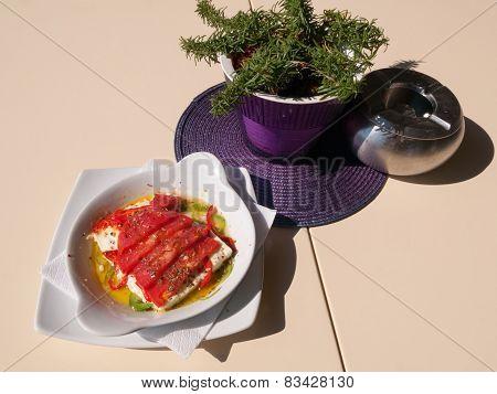 Baked Feta Cheese Salad