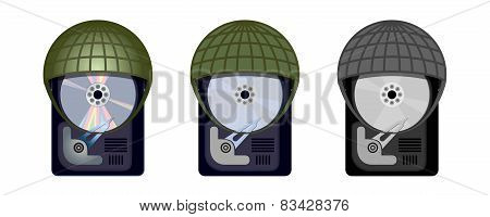 Computer Hard Drive Protects Itself Under Military Helmets