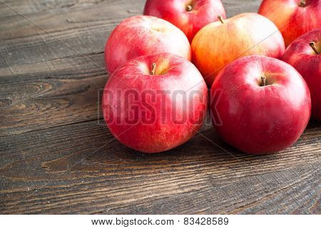 Some Red Apples On The Table