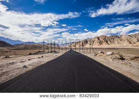 Asphalt Road In The Mountains