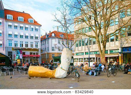 Denmark. Copenhagen. Kultorvet (Coal Market) Square