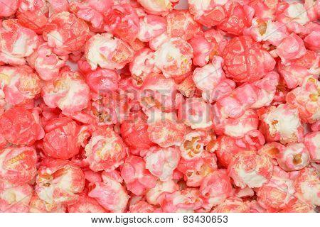 pink candy popcorn