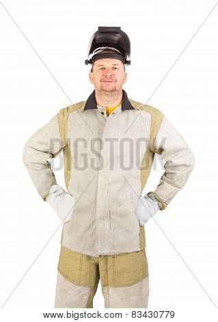Smiling welder