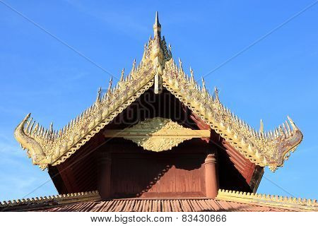 Mandalay Palace in Mandalay Myanmar
