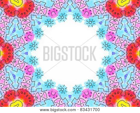 Abstract Color Pattern Frame