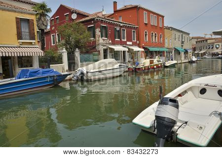 Channel In Murano Island