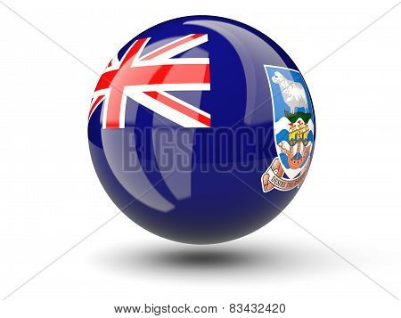 Round Icon Of Flag Of Falkland Islands