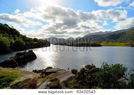 Killarney Lake under backlight (Ireland)