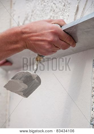 Process Of Plastering The Walls