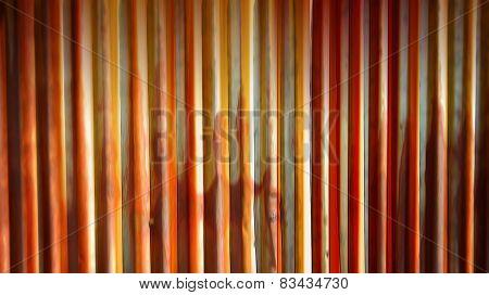 Blur rusty zinc fence wall