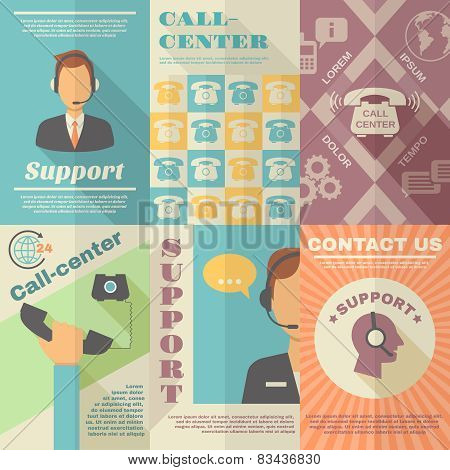 Support Call Center Poster
