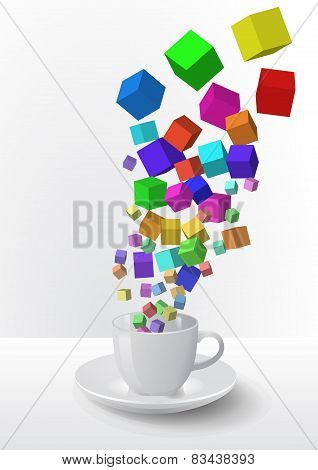 Abstract Coffee Cup