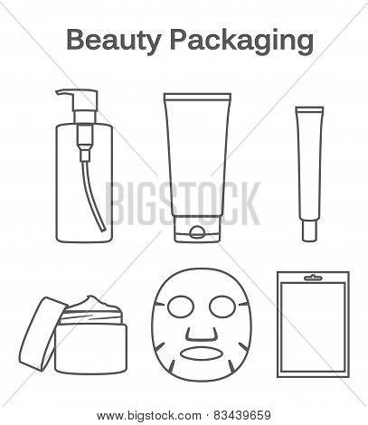 Beauty Packaging linear symbol