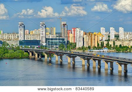 View Of The Dnieper River In Kiev