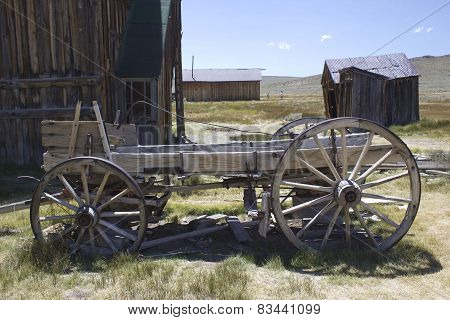 Wooden Cart in Bodie ghost town