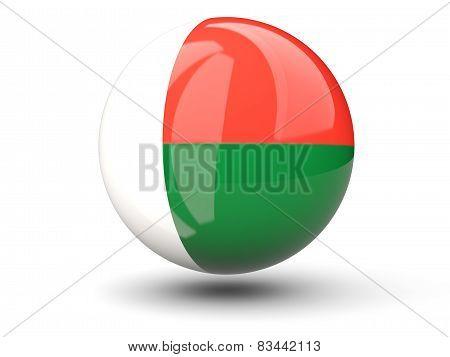 Round Icon Of Flag Of Madagascar